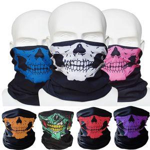 Nuova Outdoor Skull Collo Viso Bandana Maschera casco della bici del motociclo a Paintball Sci Sport fascia Come Sciarpa Bib FFA3618 Mix Colors
