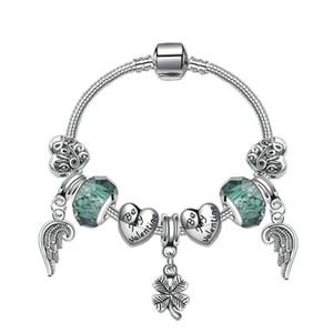 Новый DIY ювелирные изделия Шарм браслет угол крыло четыре листа кулон Шарм бусины аксессуары 925 серебряный браслет для бесплатная доставка девушка женщины браслеты