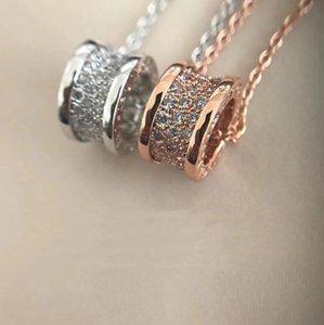 Popular fashion brand Full Diamond spring pendant designer necklace Zero1 luxury jewelry Woman wedding party Lovers gift