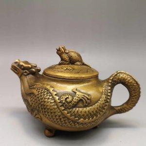 Ouverture de dragon de cuivre pur et d'ornements pot de Phoenix laiton coulée pot de dragon pot Shouxing