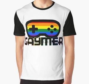 Allover-Druck-T-Shirt Männer T-Shirt Regenbogen-Gamer Gaymer Videospiel-Controller Big Drucken Voll Frauen-Grafik-T-Shirt drucken
