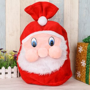 Cadeau de Noël Sacs à dos Wrap Père Noël cordonnet Sucrerie Sacs Nouveau velours Grande Fournitures Sac Décoration DHL SHIP XD21473