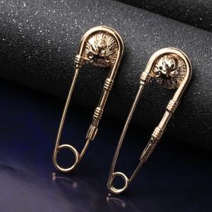 Nova Chegada Cabeça De Leão Pin Broche De Luxo Mulheres Homens Leão Vintage Broche Terno de Lapela de Camisa Pino Acessórios de Alta Qualidade