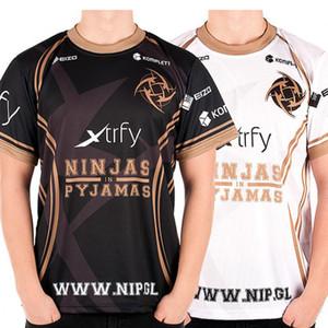 Spiel Team Dota 2 Jersey Ninjas Im Pyjama T-shirt Csgo Lol Dota2 Kurzarm Männer Nip T-shirt Schnell Trocken 100% Polyeste Tees Y19072201