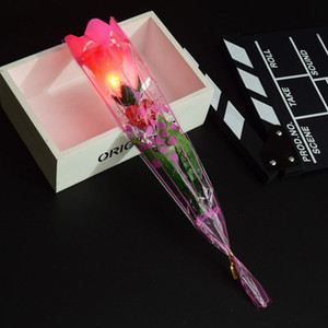 LED Light Up Rose Flower Valentines Mothers Day Gift Birthday Party Supplies Wedding home decor Decoration LED Toys