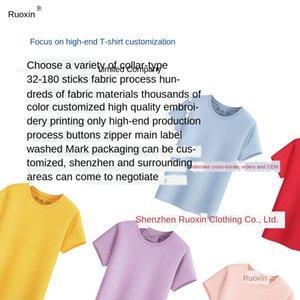 High-end das mulheres T-shirt dos homens T-shirt OEM algodão mercerizado bordado algodão mercerizado impressão bordados OEM