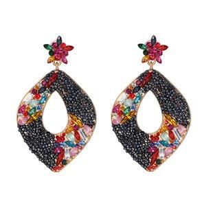AOTEMAN 2019 indicação de forma irregular Big Drop Dangle Brincos para Mulheres Antique Oorbellen Jewelry For Women Drop Shipping