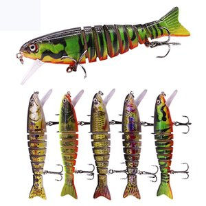 2020 realistic Bionic rocking Multi-section bass crankbaits 10.6 cm 17.3 g Vivid natural Swimming 8 segs Big game Fishing bait