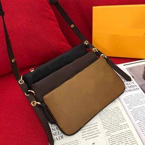estilista bolsa de luxo M20921 Kirigami 3 pcs por saco de ombro L flor padrão 2020 Novo Estilo bolsa de Ombro crossbody