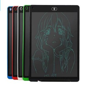 HOT 12 inch LCD Writing Tablet Touch Pad Office Electronic Board Magnetic Fridge Message Stylus Kids Birthday Christmas Day Gifts best dhl
