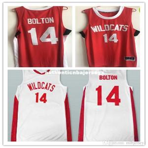Дешевые ретро #14 Зак Эфрон Трой Болтон Восточная Средняя школа Wildcats баскетбольные майки Throwbacks мужская сшитая рубашка на заказ любое количество