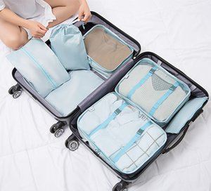 Case Travel Waterproof Bag Storage Wardrobe Storage Organizer Suitcase Clothes Portable Laundry Container 7PCs Set Pouch Luggage Ohsfu