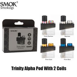 Smok Trinity Alpha substituição cartucho de 2,8 ml Pod Atomizador com Nord MTL Nord malha Bobinas Para Trinity Alpha Kit Authentic