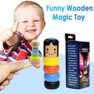 taşınmaz mandal sihirli İnatçı Ahşap Man oyuncakları 1SET sihirli hileler yakın çekim sahne sihirli aksesuarları çocuklar komik Hediye Parti Oyun oyuncak