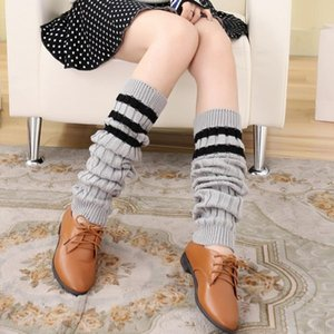 Overknee Striped Knitting Socks Leg Warmers Boot Cover Keep Warm Socks calentadores invierno 2017 cheap-socks-wholesale