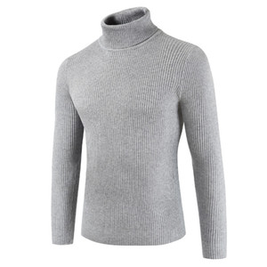 Mens Sweaters 2018 Men's Turtleneck Turtleneck Men's Long-sleeve Sweater In Solid Color