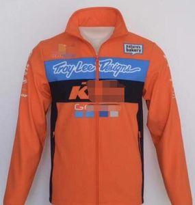 KTM suéter nuevo traje de carreras de motos anti-caída de la cremallera de pie traje traje suéter Knight montar motocicleta ocasional de cuello