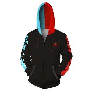 Hero College Mens Hoodies 3D Printed Long Sleeve Mens Hoodies Cardigan Zipper Hooded Cosplay Sweatshirts My
