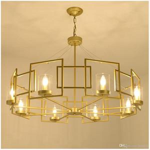 Современные LED двойная спираль золото Люстра Освещение Фойе лестничные Лестница Спальня Отель HallCeiling Подвесной Подвесной светильник