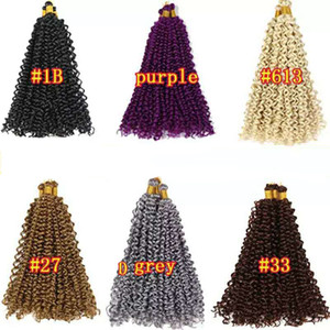 Synthetic Braiding Hair Bulk Water Wave Crochet Braids 14Inch 30 Strands Ombre Color Synthetic Hair Extensions