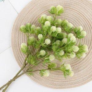 5 Vorbauten / Branche Künstliche Kunststoff Fake Flowers Blatt Hochzeit Blumendekor Bouquet, 4 Farben