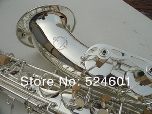 New SUZUKI Bb Tenor Saxophone Brass Silver Plated B Flat Performance Musical Instrument Saxophone with Case Mouthpiece Accessories