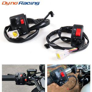"""Motocicleta 7/8"""" Control guiador interruptor da buzina turno sinal Farol Nevoeiro Lâmpada Eléctrica Iniciar Mudar conector Push Button Switch"""