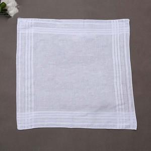 Il regalo 40cm del partito 100% Cotton Handkerchief Maschio Tabella raso Fazzoletto Towel Piazza fazzoletti bianco in bianco delle donne degli uomini di Natale DBC BH2675