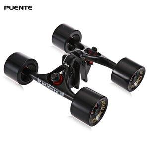 푸 엔테 2PCS / 세트 스케이트 보드 트럭 스케이트 휠 라이저 ABEC - 9 베어링 볼트 너트 XYFLf