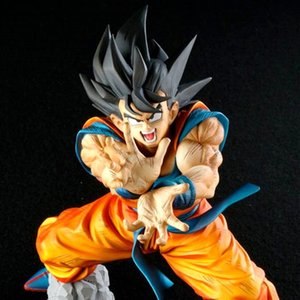 Anime Dragon Ball Z Son Goku Figures Shock Wave Super Saiyan Son Gokou Dragonball PVC Action Figure Model Toys Brinquedos 17CM Y200703