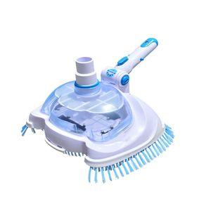Piscina Vacuum cabeça flexível escova Piscina Durable Lavagem Equipment Underwater Cleaner Esgoto de sucção Acessórios