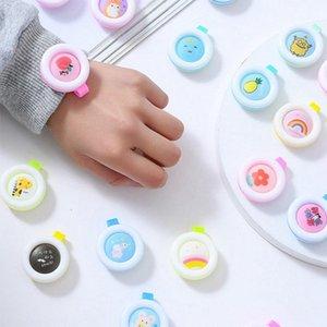 Tragbare Anti-Moskito-Buckle Insect Repellent Clip Badge Anti-Moskito-Karikatur-nette für Baby-Moskito-Repellent-Knopf HHA1261-H