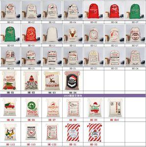 Neueste Christmas Santa Taschen Sankt Sack Tragetasche Canvas Beuter für Kinder Geschenke für Rentiere Xmas Tree 54 Styles HH9-2372