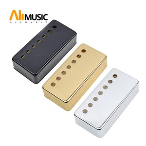 Brass 7 Hole 7 String Pickup Humbucker Cover 80*39mm Pole Spacing 58 62mm for LP Electric Guitar - a set of 2pcs