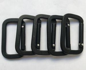 Novely accrocher carré crochet boucle de sécurité en alliage d'aluminium suspendu pince porte-clé Carabiners hooks mini-keyringclimbing anneau mousqueton