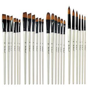 나일론 머리 나무 손 수채화 페인트 브러시 펜 세트 DIY 오일 아크릴 그림 미술 페인트 브러시 용품 학습