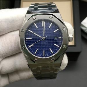 2019 vente chaude mens montre automatique mouvement mécanique cadran bleu ROYAL série série OAK mens montre 15400 en acier inoxydable mens montres 42MM