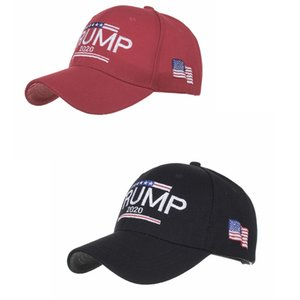 Donald Trump 2020 Baseball Hat Men Fashion USA Flag Sport Cap Letter Embroidery Woman Summer Beach Sun Hat 10pcs TTA1003