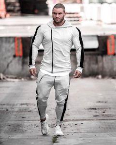Herbst-Winter-Mann-Sport-Anzug Zip Up Hoodie-Jacke Sweatpant Gelegenheits Jogger Workout Outfits Bekleidung Sportbekleidung sweatsuits