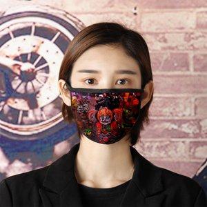 Beş Gece Freddy Rüzgar geçirmez olarak, toz, duman geçirmez baskı maske suya dayanıklı pamuk gazlı bez yıkandı