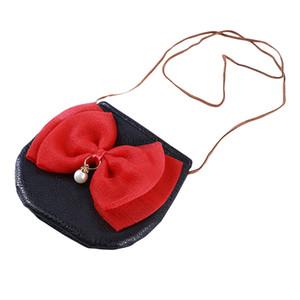 Korean Version Of The Cute Cartoon Girl Coin Purse Bow Sleek Minimalist Zipper Small Purse children's Shoulder Bag Mini Bag