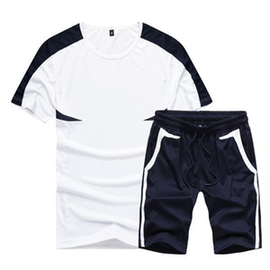 Verano casual para hombre del chándal Ropa de Hombre Conjunto de fitness Deportes traje de hombre de 2020 Marca fijado brevemente la camiseta de deporte de dos piezas