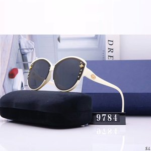 Round Sunglasses For Women Driving Sunglass Fashion Womens Bee Popular Sun Glasses Rivet Ladies Cat Eye Big Frame 2020 9632