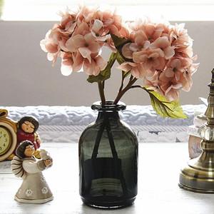 Flores de hortensia de seda Artificial Diy regalos de boda decoración de Navidad para el hogar flores falsas productos de plástico para el hogar ratán