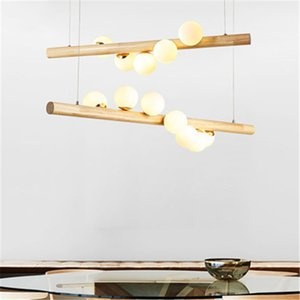Nordic Style Wood Chandeliers Home Lights Bedroom Bar Simple Restaurant Lighting Creative Personality Cloakroom Modern Lamps