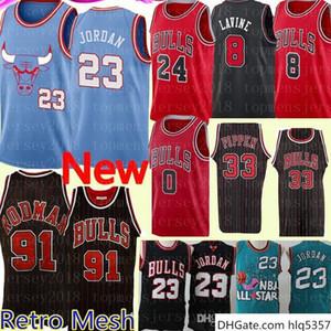 NCAA 23 Michael Jersey Retro Dennis 91 Rodman 23 MJ Scottie 33 Pippen Basketball Jersey Embroidery Logos