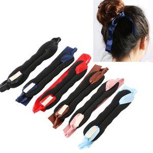 Femmes Outils Magiques Mousse Éponge Messy Donut Bun Coiffure Arcs Chapeaux Filles Élastique Cheveux Braiders Accessoires De Cheveux