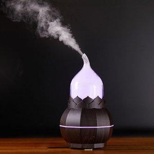 Gourd aroma lâmpada quartos casa umidificador usb purificador de ar de pulverização criativo noite luz