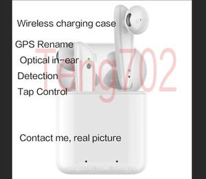 GPS Rename AP2 AP3 tws Fone de ouvido Bluetooth Fones H1 Chip fones de carregamento sem fio Caso detecção óptica Pods PK Ar 2 3 Pro i12