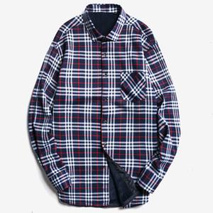 Мужские повседневные рубашки 2021 зимние мужчины плюс цветы жирные длинные Mouw рубашка / мужчины напечатанные листовые шерсти